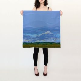 Zen Sky - Silk Scarf