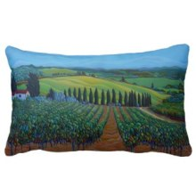 SenTrees of the Grapes Pillow - Zazzle