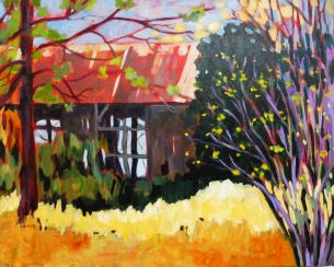 Amos, Open Barn, acrylic on canvas,