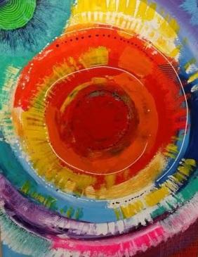 Liz Skelton. Inti. (spirit of the sun) 30X40. $550